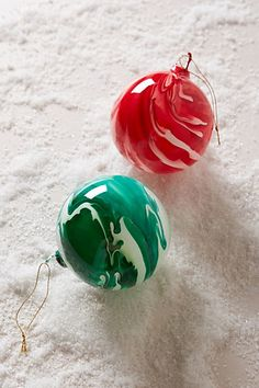Marbled Glass Ornament - anthropologie.com #anthroregistry