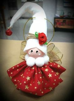 Christmas Ornaments, Green Christmas Angels, Tree Decorations - SET of 3 Diy Christmas Angel Ornaments, Christmas Fairy, Christmas Bells, Felt Christmas, Christmas Angels, Christmas Tree Decorations, White Christmas, Christmas Projects, Decor Crafts