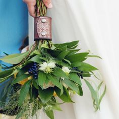 Hand-printed Leather Bouquet Wrap