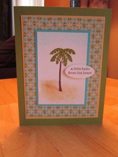 Tropical Thanks by mfb - Cards and Paper Crafts at Splitcoaststampers Tropical party, vases in vogue