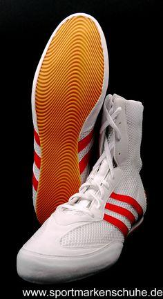 detailed look bc1b2 efedd Adidas Box Hog G12438 Boxschuhe Boxstiefel weiß – rot □Durch sein  Mesh-Obermaterial ist