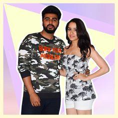 Arjun Kapoor and Shraddha Kapoor, Half Girlfriend Promotions, MyFashgram