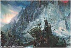 "tolkien-inspired-art: ""by John Howe "" Alan Lee, Jrr Tolkien, Hexenkönig Von Angmar, John Howe, Dcc Rpg, Witch King Of Angmar, Morgoth, Armadura Medieval, O Hobbit"
