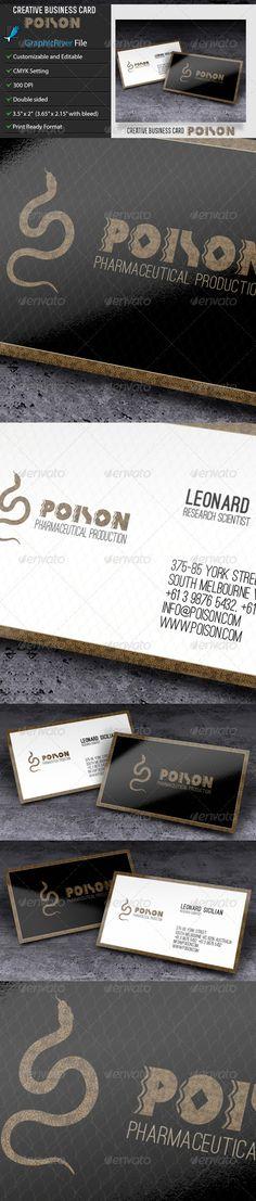 Creative Business Card – Poison