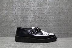 Vtg 90s Black White Grunge Platform Pointy Creepers Shoes 6.5 37 Puma Platform, Platform Sneakers, Creepers, White Leather, Grunge, Black And White, Heels, Fashion, Zapatos