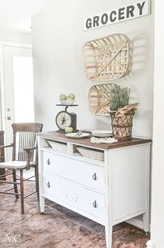 Dining Room Sideboard Made from Repurposed Antique Dresser