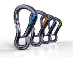 Absolutely INSANE new auto-locking carabiner design by Black Diamond.  Magnetic locking.