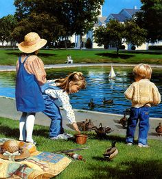'Feeding the Ducks' by Donna Green