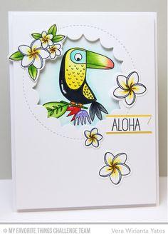 Birds of Paradise, Polynesian Paradise, Jumbo Peek-a-Boo Circle Window Die-namics, Polynesian Paradise Die-namics - Vera Wirianta Yates  #mftstamps