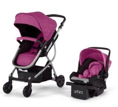New Baby Strollers Urbini Omni 3-in-1Reversible Toddlers Stroller Car Seat viola