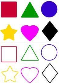 Cut Out Shapes | Fine motor, Kids cuts and Pictures
