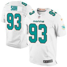 NFL Jersey's Nike Men's Miami Dolphins Customized White Game Jersey