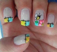 New Ideas For Fails Design Crazy Beauty Gel Nail Art, Manicure And Pedicure, Acrylic Nails, Nail Polish Designs, Cool Nail Designs, Spring Nails, Summer Nails, Hair And Nails, My Nails