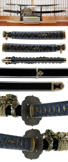 katana [Usyu Yonezawa-Jyu Yukifusa], Edo era, 1854. Samurai Swords Katana, Samurai Art, Swords And Daggers, Knives And Swords, Geisha, Lightsaber Hilt, Martial Arts Weapons, Miyamoto Musashi, Cool Swords