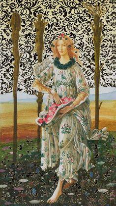 3 de bâtons - Tarot d'or Botticelli par Atanas Alessandro Atanassov