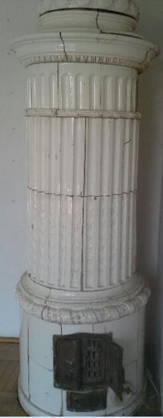 piec kaflowy rococo okrągły z kopułą - XVIII wiek