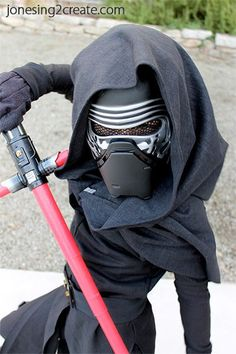 Love this Kylo Ren Costume for little boys. Pinning this so that I can use the pattern and tutorial for next year.