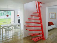 Escada em caracol quadrada 1m2 ® by Interbau Suedtirol Treppen                                                                                                                                                                                 Mais