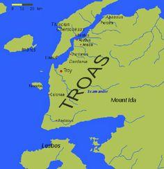 520px-Troas.svg Troy, Heinrich Schliemann, Greece Map, Deep Time, Age, Historical Maps, Pilgrim, Geography, Planer