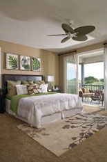Bedroom: colors, plants. Hawaii Home + Remodeling Magazine