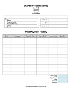 Printable sample late rent notice form real estate forms if damages occur in an apartment or rental property landlords can use this repair invoice small business planbusiness accmission Image collections