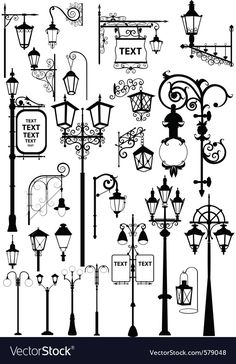 Lanterns Vector illustration of retro and modern street l. - Lanterns Vector illustration of retro and modern street lanterns Created - Doodle Art, Doodle Drawings, Bullet Journal Inspiration, Bullet Journal For Men, Types Of Bullet Journals, Drawing Sketches, Drawing Ideas, Sketching, How To Draw Hands