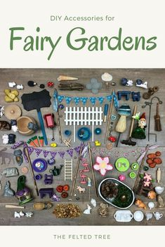 DIY accessories for Fairy Gardens. We are so making a fairy garden this year! #affiliate #fairygardens #spring #gardens #DIY #miniaturegardens #fairiesgarden #diygardening #fairygardening