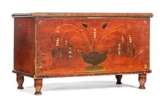 Garth's/attributed to Valentine Yoder Decor, Furniture, Blanket Chest, Painted Furniture, Art Decor, Home Decor, Wall Painting, Painted Boxes, Primitive