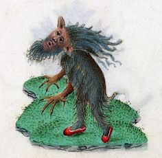 Red sneakers, book of hours, Bruges or Ghent 15th century (Beinecke, MS 287, fol. 80r) @BeineckeLibrary