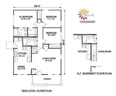Small Two Bedroom House Plans Small House Plans Under 1000 Sq FT, house plans for 1000 sq ft Bungalow Floor Plans, Bedroom Floor Plans, Craftsman Style House Plans, House Floor Plans, House Plans One Story, Best House Plans, Small House Plans, Cottage House Plans, Country House Plans