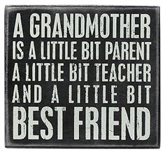 Grandmother - Box Signs 21320 | Primitives by Kathy