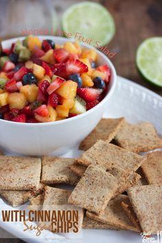 Honey Lime Fruit Salad with Homemade Paleo Cinnamon Sugar Chips +  5 Healthy Spring Salads