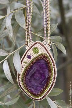 """Кулон с флюоритом """"Violet Sea"""". Handmade."""