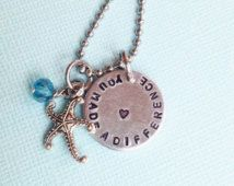 Starfish Story Necklace - Mentor Gift - Coach Gift Necklace - Teacher's Gift - Make a Difference Necklace