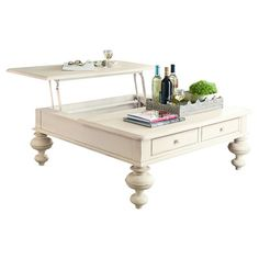 Found at Wayfair - Coffee Table with Lift Top in Linen