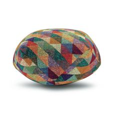 Add fabulous texture to your home with this Naxos pouf from the Missioni Home 2014 Collection. Featuring a chic multicoloured triangle patch design, this pouf has a fabulous and unusual angular sha. Modern Ottoman, Patch Design, Pouf Ottoman, Floor Cushions, Colorful Furniture, Missoni, All Modern, Fabric Crafts, Decorative Bowls