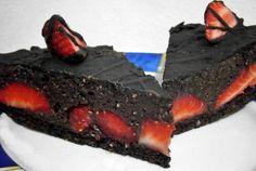 Extra diétás epres csokitorta (fehérjedús, gluténmentes) Desserts, Food, Tailgate Desserts, Deserts, Essen, Postres, Meals, Dessert, Yemek