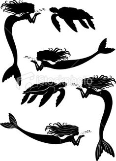 Mermaid and Turtles Royalty Free Stock Vector Art Illustration
