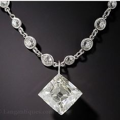 6.51ct French-Cut Diamond Pendant ❤️❤️❤️❤️ The Diamond Chain and the Diamond Pendant can be sold separately as well. Item# 120-91-37 #diamond #french #pendant