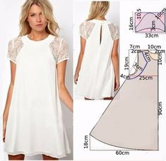 simple patterns of dresses with their own hands Fashion Sewing, Diy Fashion, Ideias Fashion, Fashion Outfits, New Look Dress Patterns, Dress Making Patterns, Costura Fashion, Sewing Blouses, Make Your Own Clothes