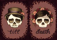 till death do these sugar skulls part :)  © brittany w-smith 2011