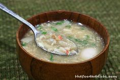 Asparagus Crab Soup – Also Known As Vietnamese Sup Mang Cua Vietnamese Food, Vietnamese Recipes, How To Make Asparagus, Crab Soup, Viet Food, Asparagus Soup, Asian Soup, Soup And Salad, Chinese Food