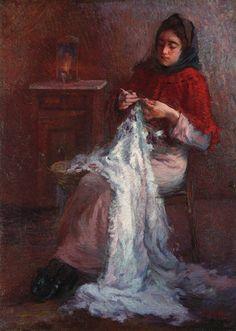 Giacomo Balla (1871-1958)  Donna che cuce, c1897