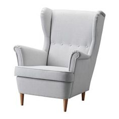 IKEA - STRANDMON, Wing chair, Nordvalla light gray, , 10-year limited warrranty. Read about the terms in the limited warranty brochure.