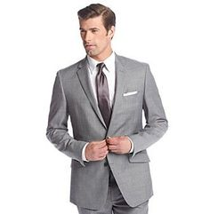 Kenneth Cole New York® Men's Slim Fit Gray Sharkskin Suit Separates Jacket