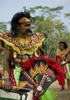 Kuda lumping dancers, Java, Indonesia • Kuda Lumping, a traditional dance of Java is a trance dance.
