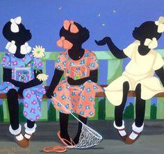 Gullah Art Cassandra Gillens 16 Pieces of Gullah Art Black Art Painting, Black Artwork, Woman Painting, African American Artist, African Art, Black Art Pictures, Afro Art, Black Women Art, Dope Art