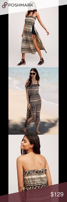 ❗️CLOSET CLOSING!LOWEST❗️FREE PEOPLE print maxi Tribal inspired tube tunic in a maxi length featuring exaggerated side vents. Adjustable waistband with braided suede ties and an elastic band at the bust for an effortless fit. 581167  Retail: $118 Size: L (other sizes listed)  ❤I have over 300 new with tag Free People & More items for sale! I love to offer bundle discounts!  ❤No trades. I no longer discuss pricing in comments. Please use offer button to submit offer! 😊 Free People Tops…