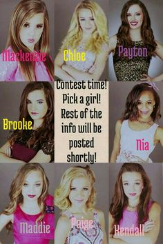 Im doing an FALDC comment which girl you want and follow me!!