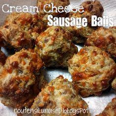 Cream Cheese Sausage Balls Recipe | No Utensil Unused